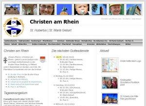 Webauftritt Christen am Rhein