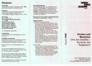 Thomas Morus Akademie: Kirchen und Moscheen