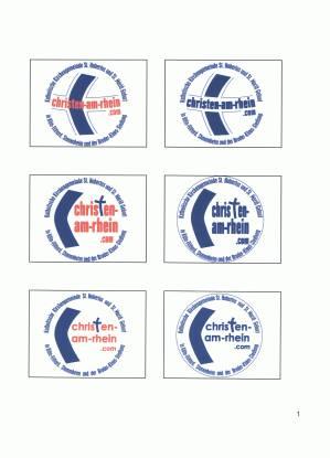 Logoentwurfe Sabine Grunthal: Christen-am-Rhein