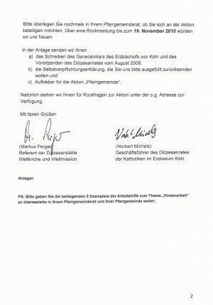 Brief Pfairrgemeinde