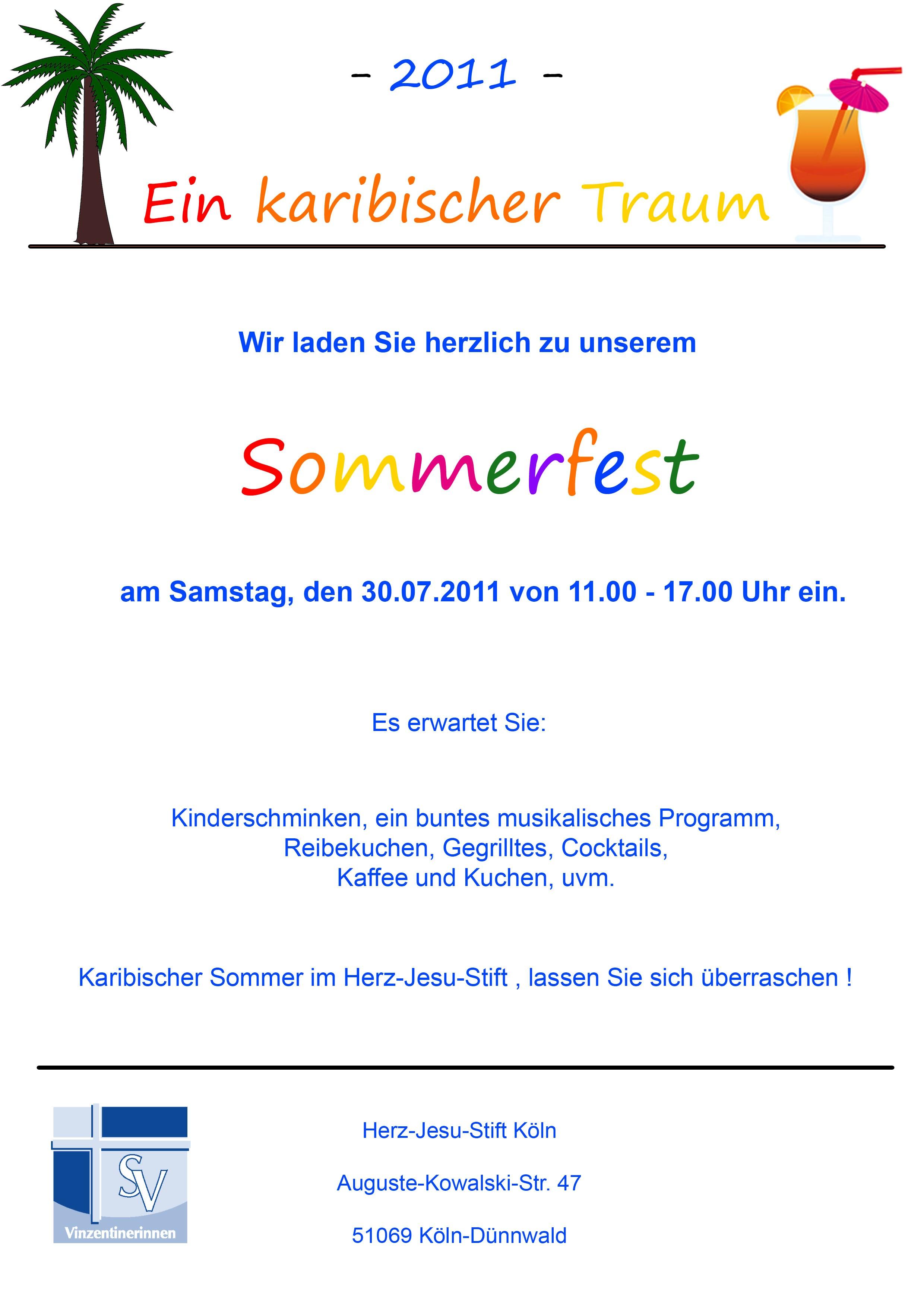 Einladung Zum Sommerfest in Der Kita images