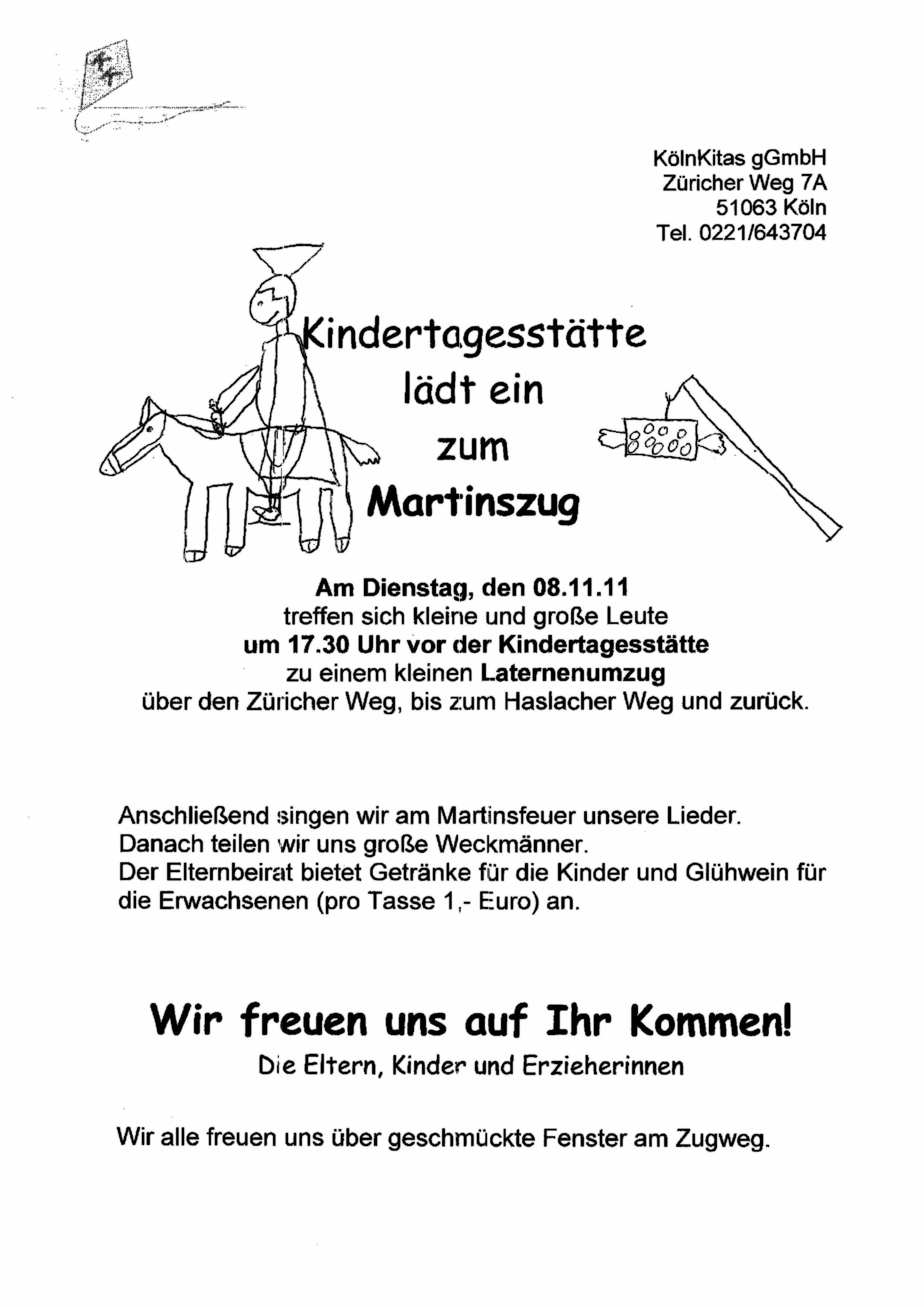einladung martinszug st.bruder klaus 08.11.2011 « pfarrgemeinderat, Einladung