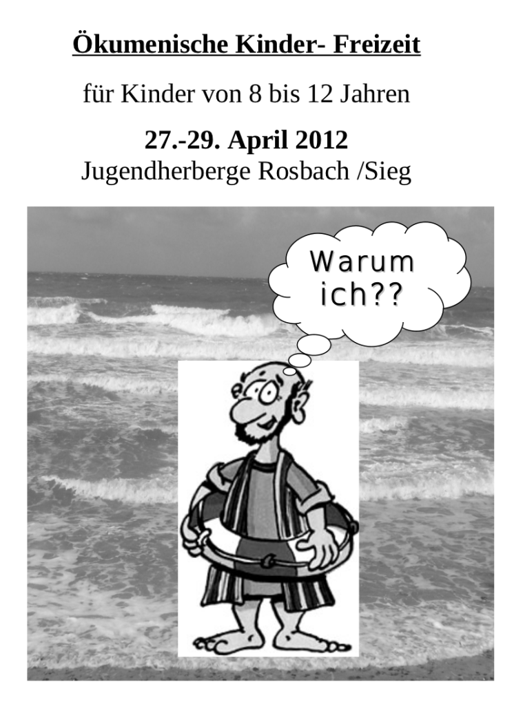 Kinderfreizeit 2012 Flyer