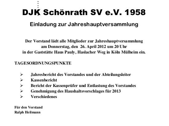 DJK Einladung Jahreshauptversammlung 2012