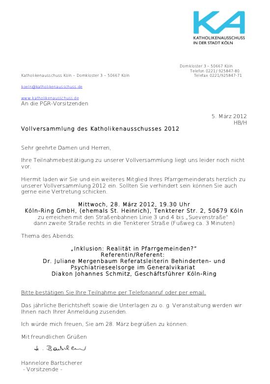 Einladung KA