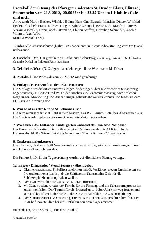 Protokoll PGR