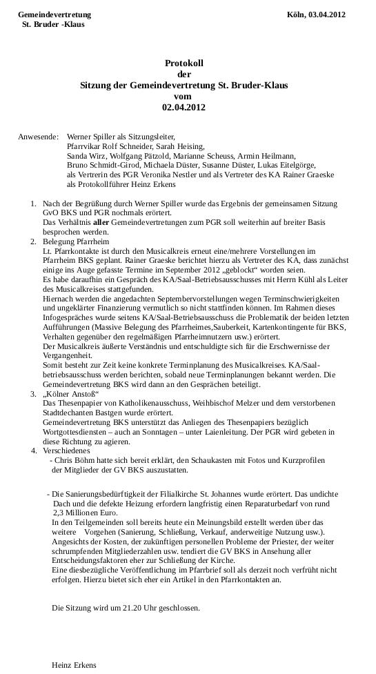 GvO Protokoll