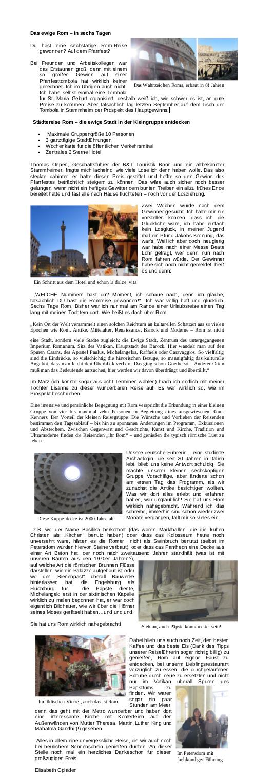 Elisabeth Opladen: Das ewige Rom