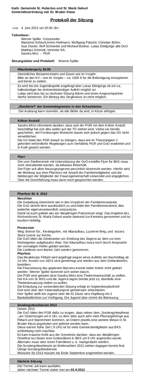 Protokoll GVO BKS 4.6.2012
