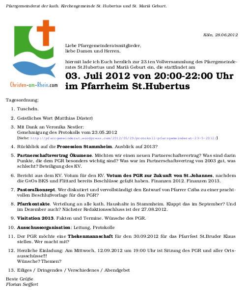 Einladung PGR 03.07.2012