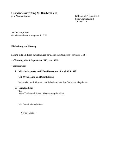 Einladung GvO BKS Sitzung Juni 2012