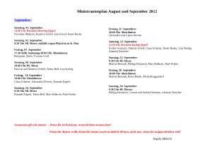 MiniPlan Hubertus September 2012