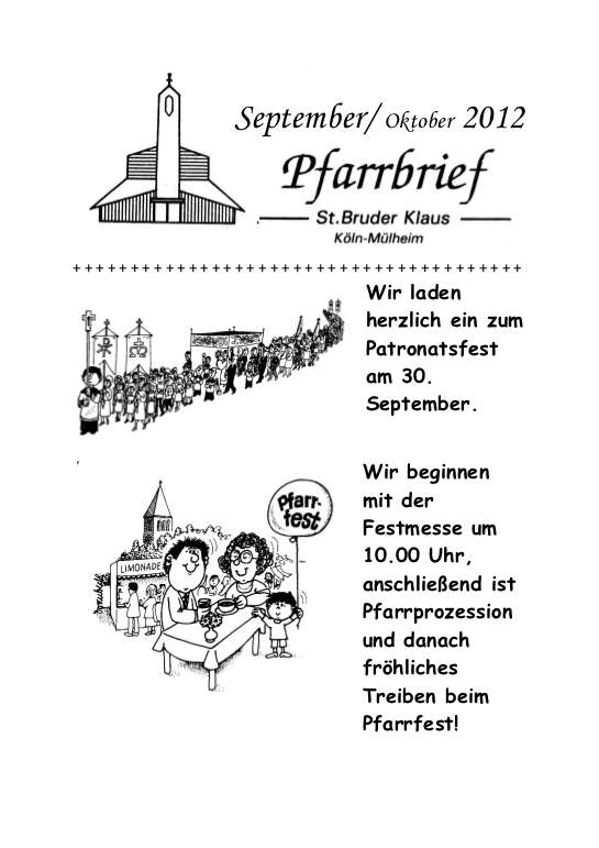 Pfarrbrief September 2012