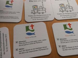 Bierdeckel für PGR-Wahl