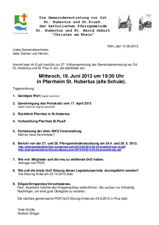 Einladung GvO Flittard 19.6.13