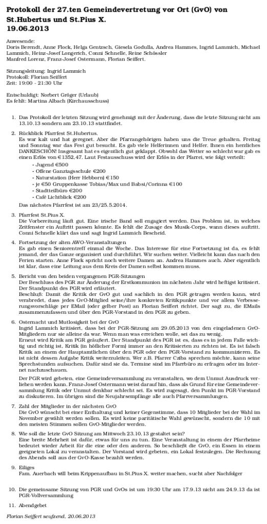 Protokoll GvO 19.06.2013