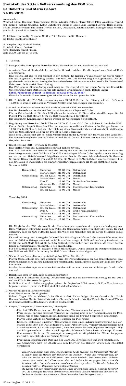 Protokoll PGR 24.09.2013