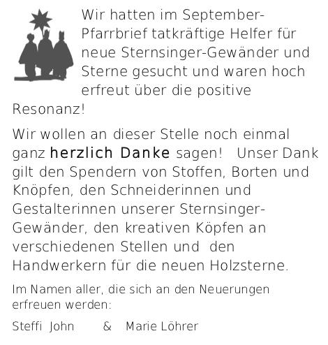 Sternsinger Gewänder