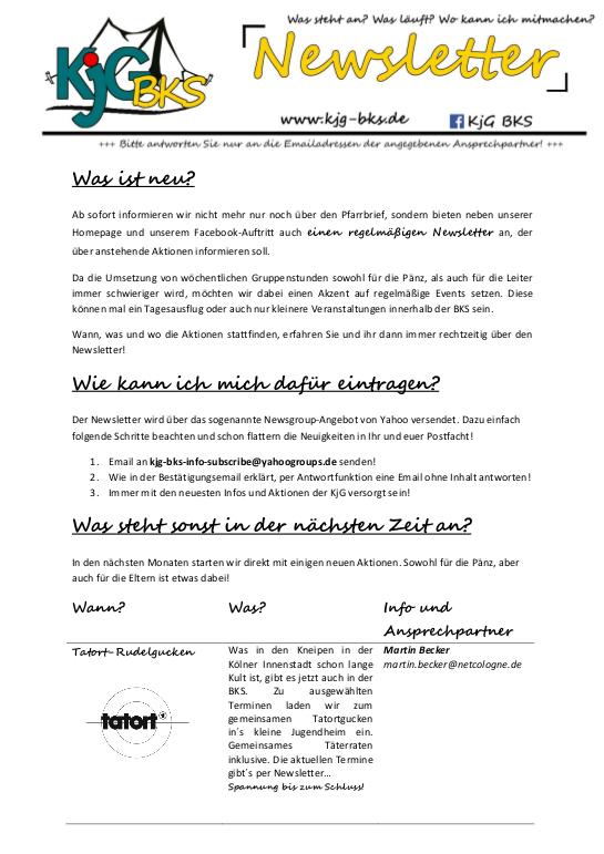 KJG Newsletter 2014