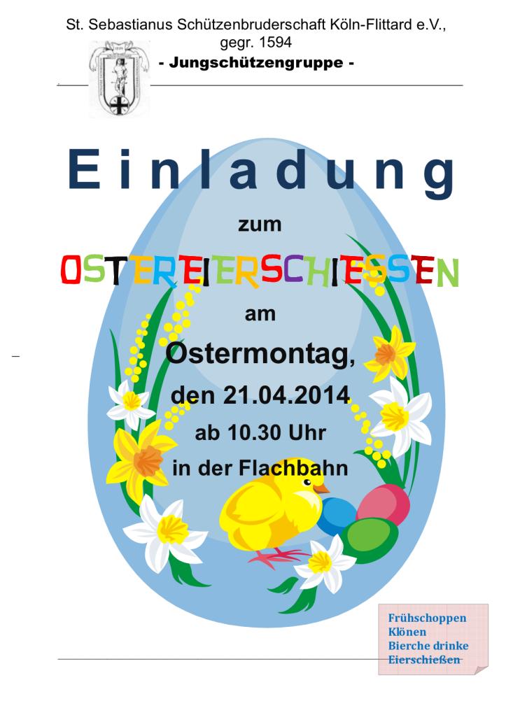 Plakat Ostereierschiessen 2014