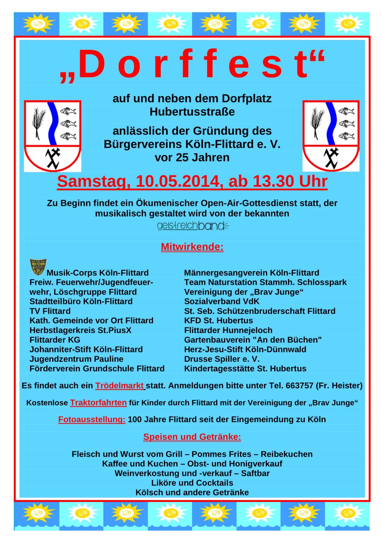 Dorffest Flittard 10.5.2014