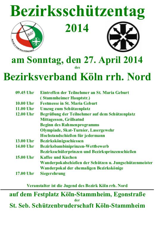 Plakat Bezirksschützentag 2014