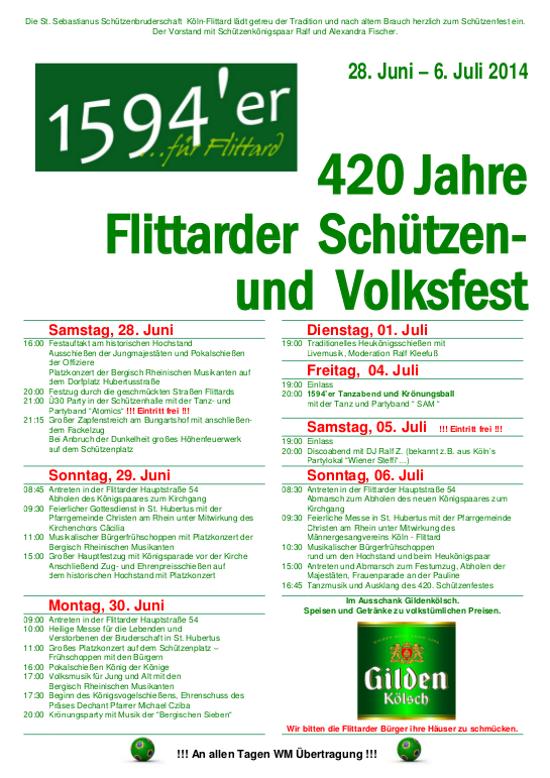 Schützenfest Plakat