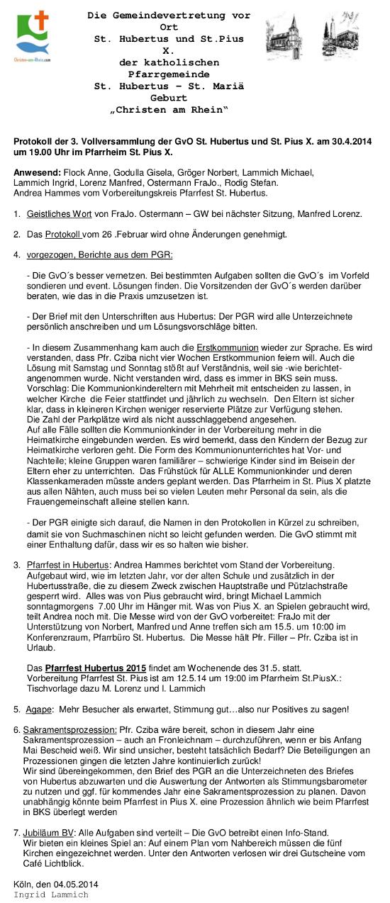 Protokoll GvO Flittard 30.04.14