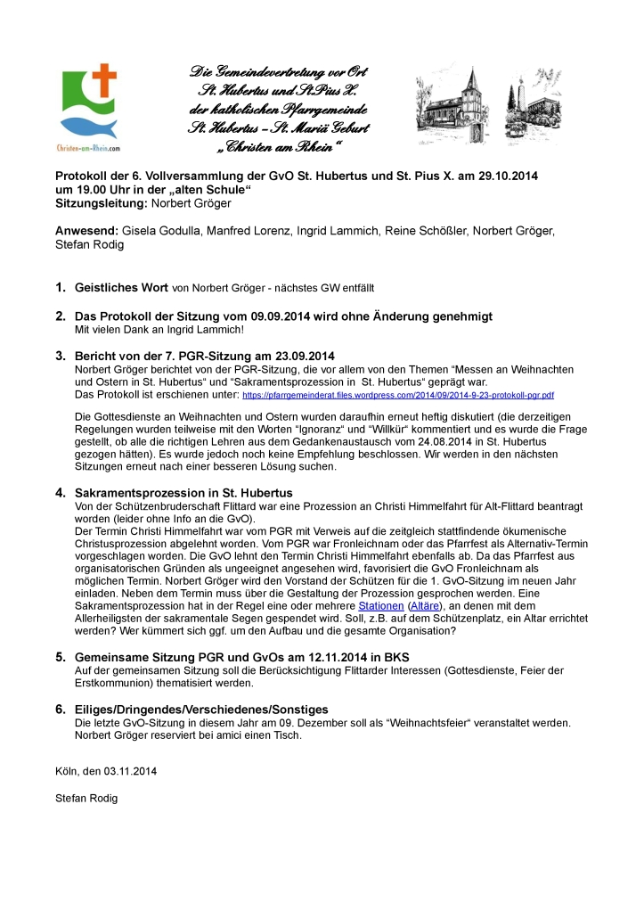 Protokoll GvO Flittard 29-10-2014