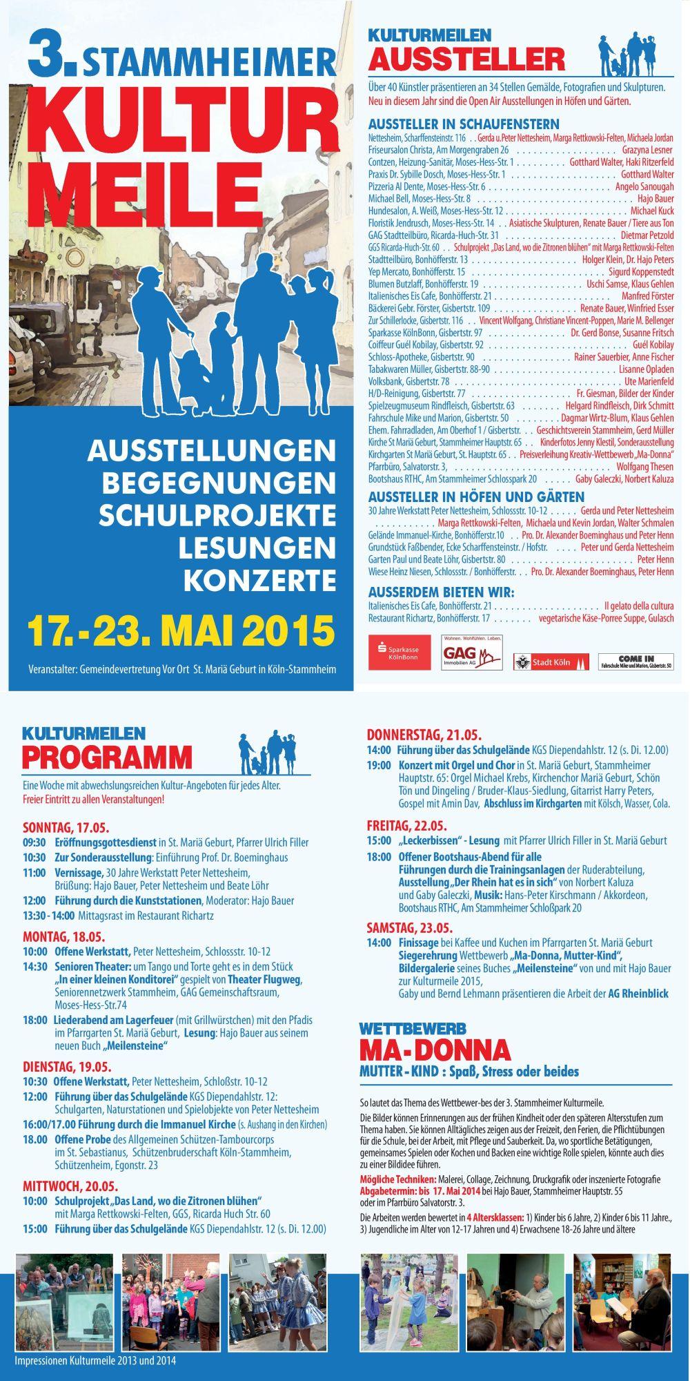 Kulturmeile 2015 Flyer