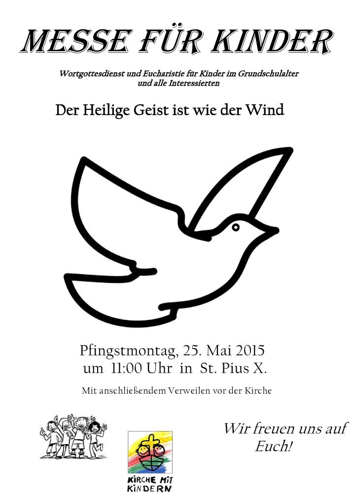 Pfarrbrief Messe für Kinder - Mai 2015