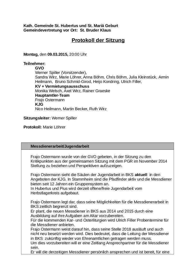 Protokoll GVO BKS