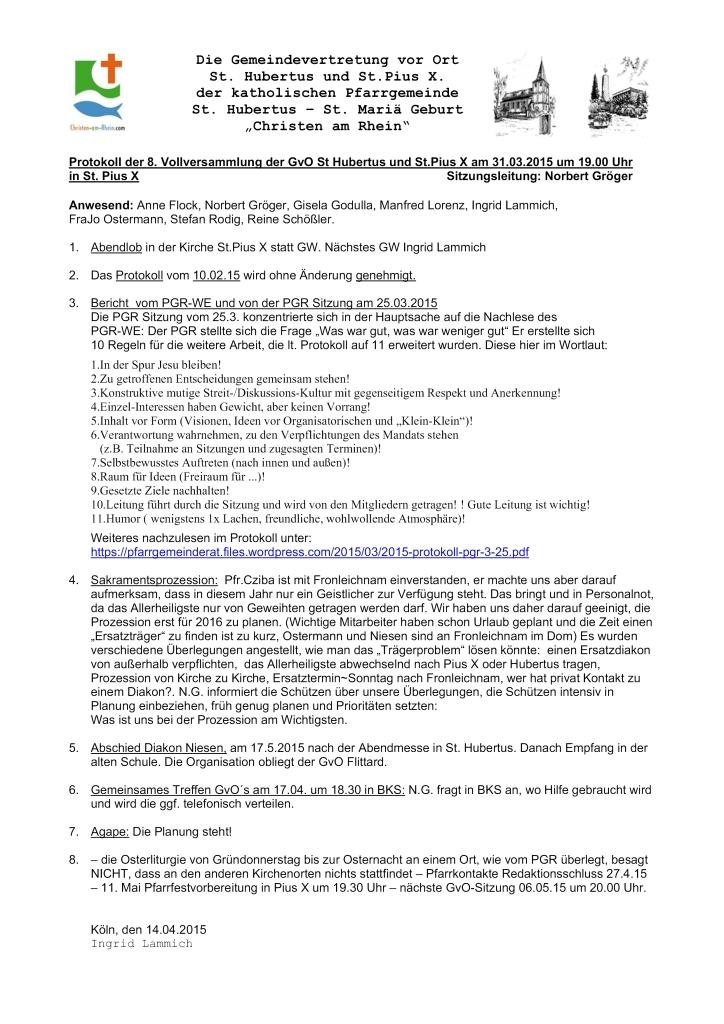 Protokoll GvO Fittard 31.03.15