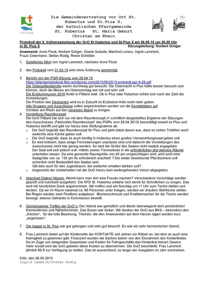 Protokoll GvO Flittard 06.05.15