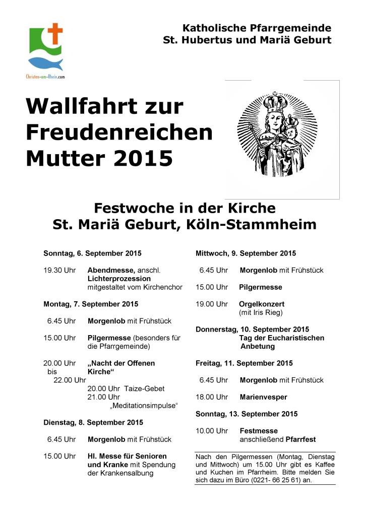 Plakat Festwoche 2015
