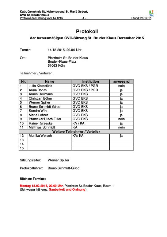 Protokoll GVO BKS 2015-12-14