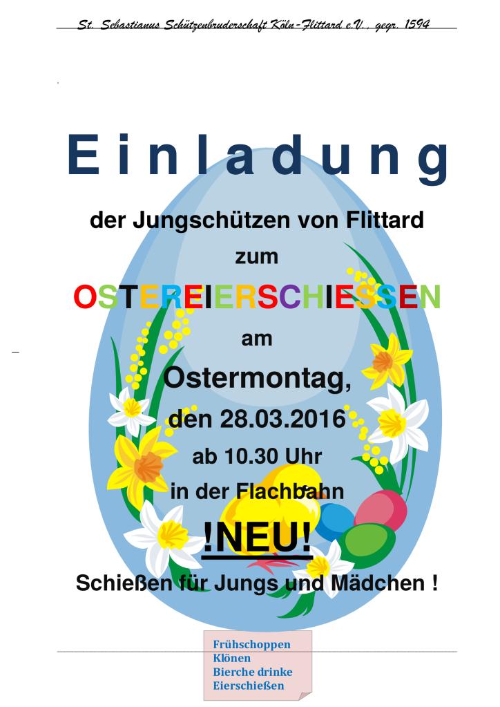 Plakat Ostereierschiessen 2016