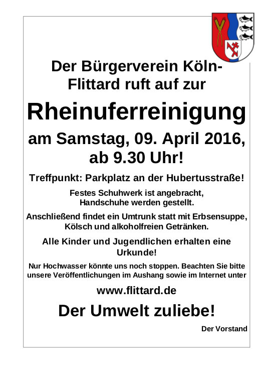 Rheinufersäuberung 2016