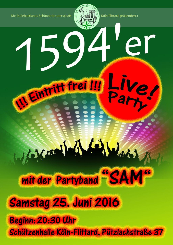 2016 Live Party Plakat