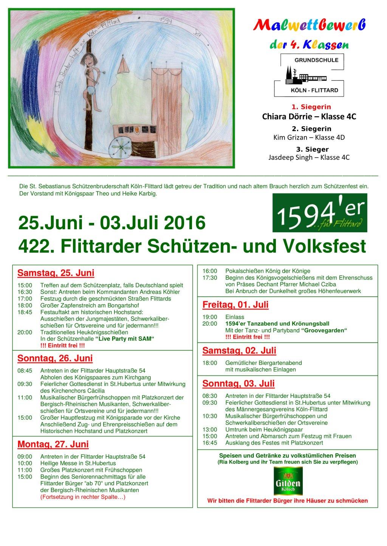 2016 Schuetzenfest Plakat