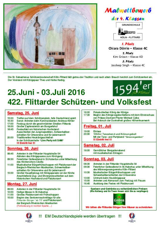 2016 Schützenfest Plakat