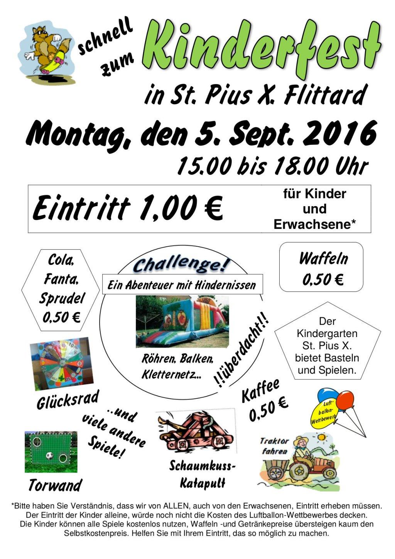 Einladung Kinderfest
