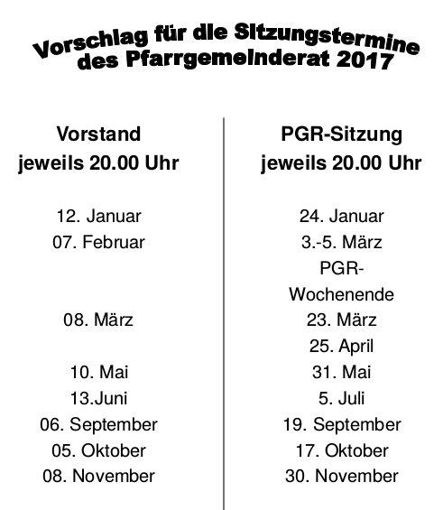 PGR-Termine 2017