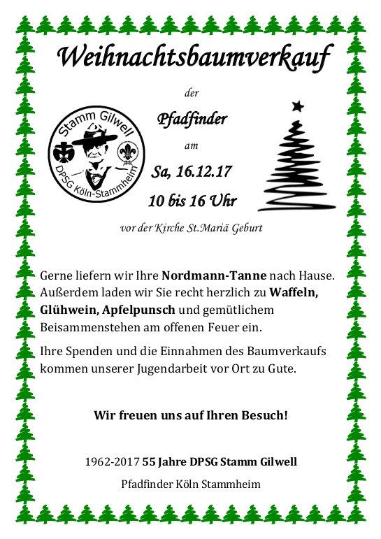Weihnachtsbaumverkauf 2017